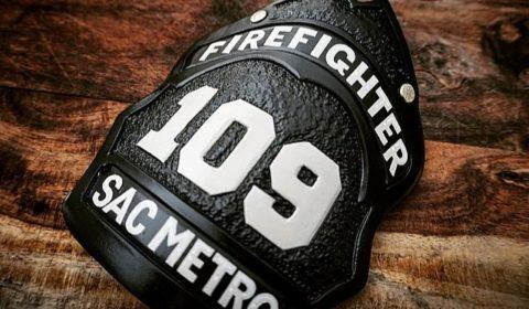 leather fire helmet shield